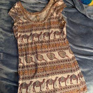 Free People Camel Shirt